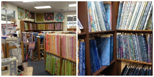 quilt store selection