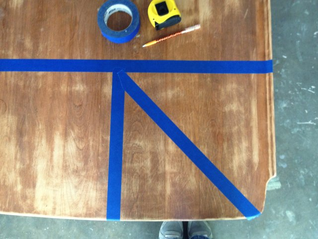 taping the table