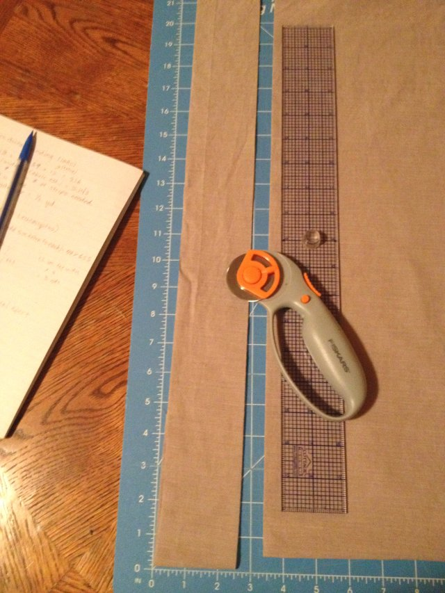 cut binding strips