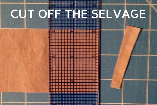 cut off the selvage