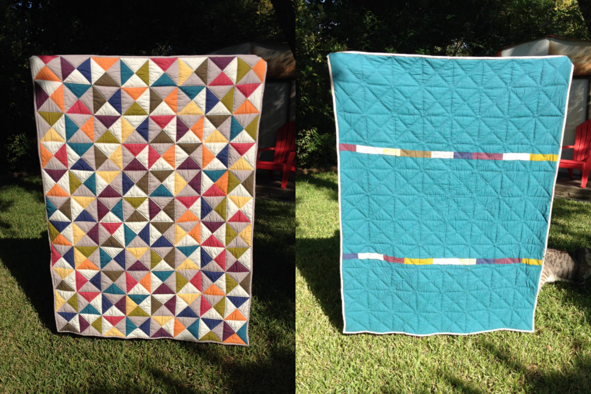 Broken Dishes Quilt – Binding and the Finished Quilt | Craft Takeover : how to back a quilt - Adamdwight.com