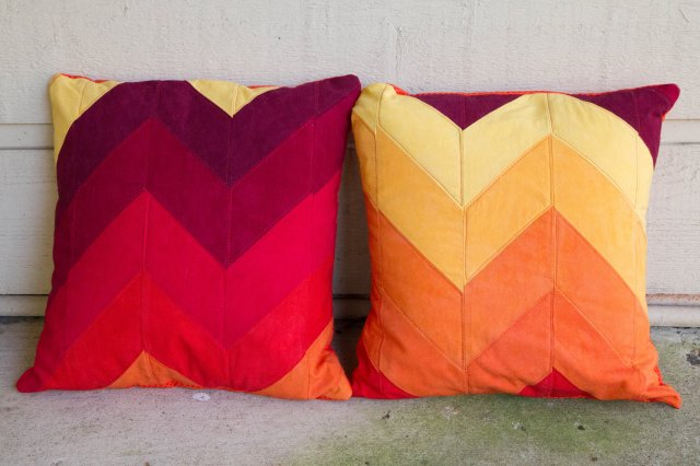 cherrywood chevron pillows