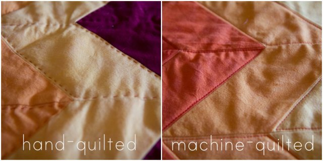 hand vs machine quilted