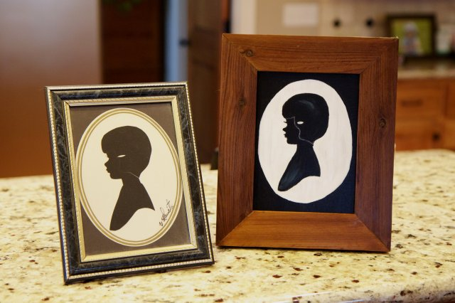 side by side silhouette portraits