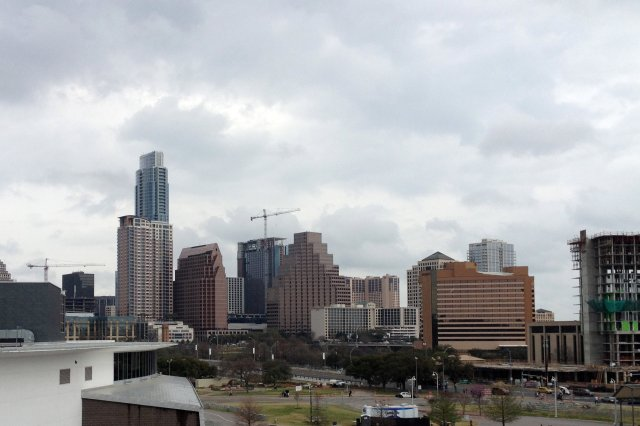 Gray day Austin skyline