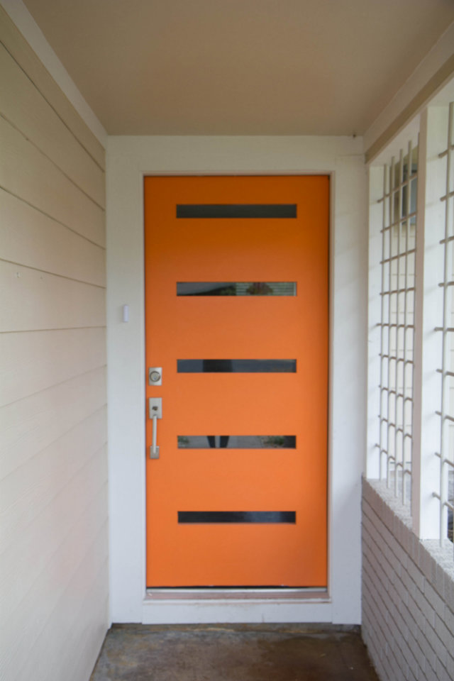 gallery for modern front door orange