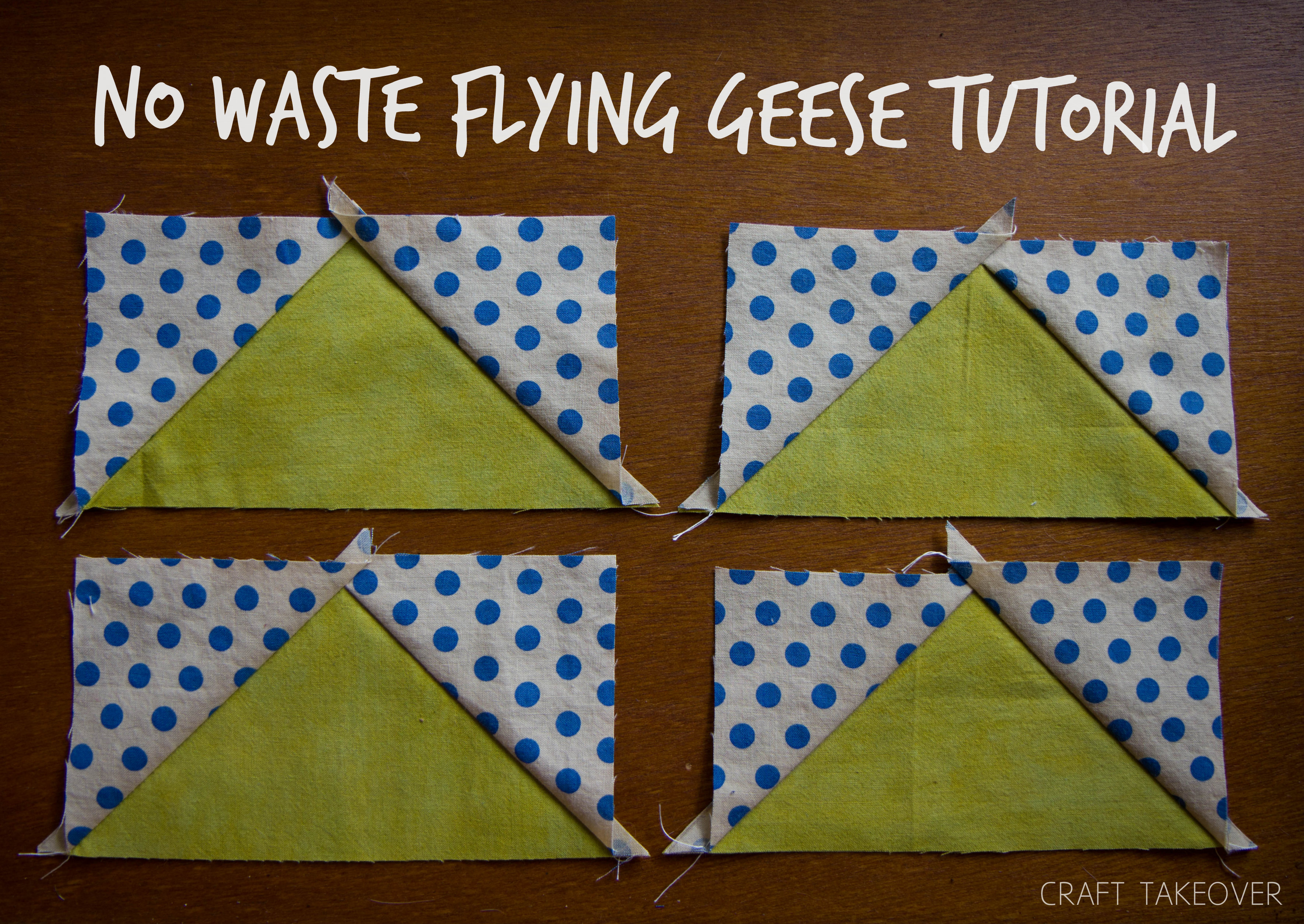 No Waste Flying Geese Tutorial | Craft Takeover : flying geese quilt block pattern - Adamdwight.com