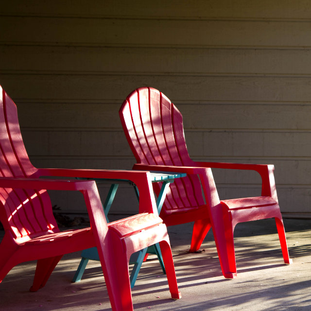 porch chairs on a nice day