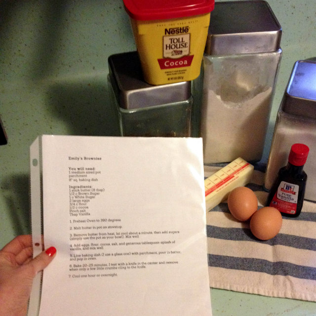 recipe with page protector