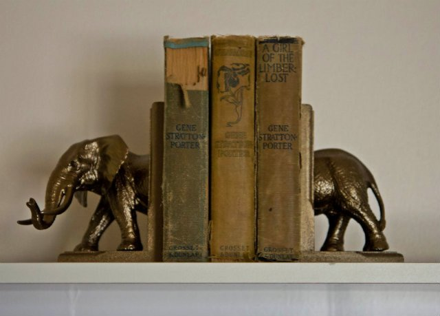 Gene Stratton Porter & Elephant bookends