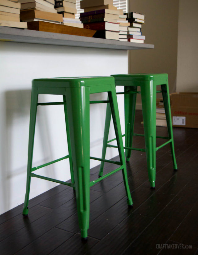 green counter stools