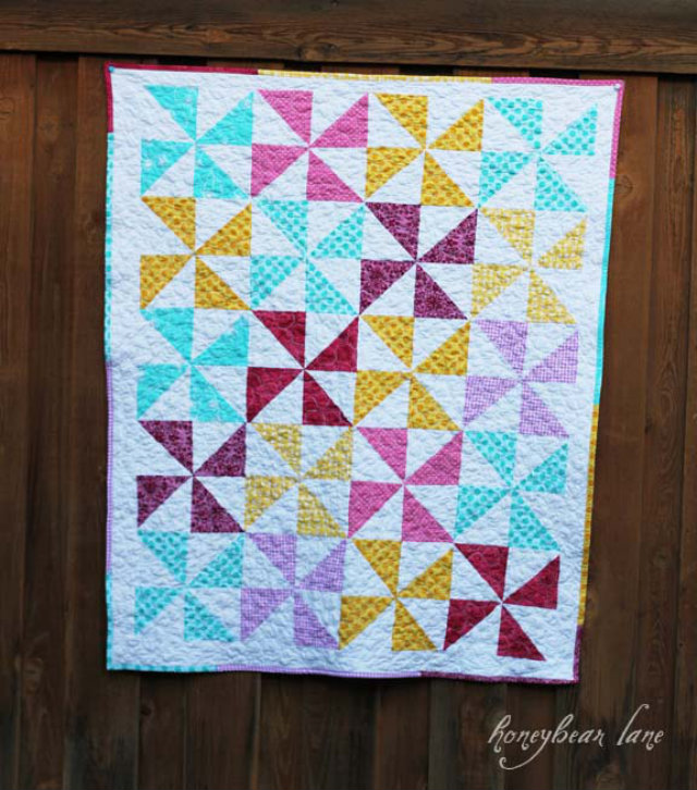 pinwheelquilt by honey bear lane