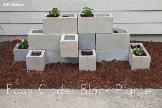 Easy Cinder Block Planter