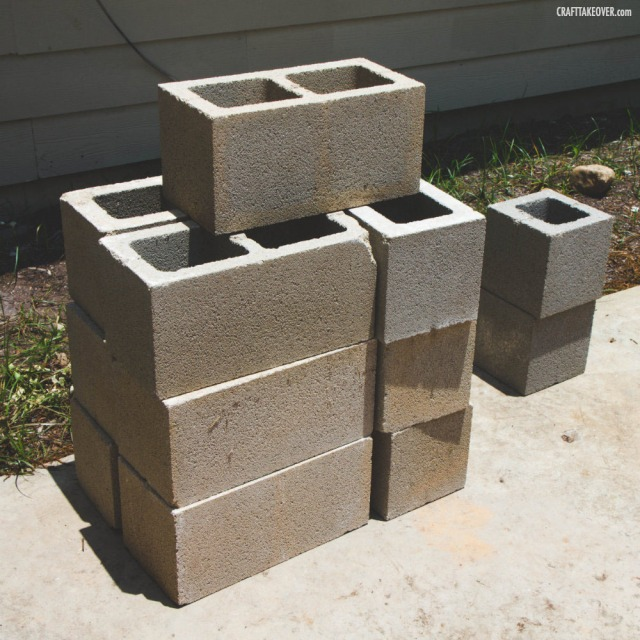 stacked cinder blocks