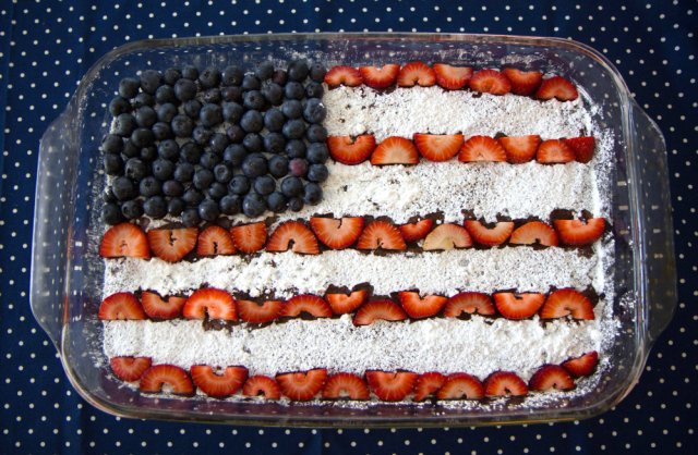 4th of July Flag Brownies