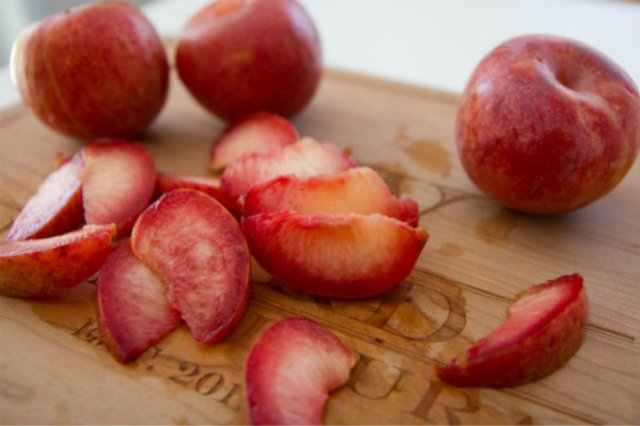 sliced plumcots