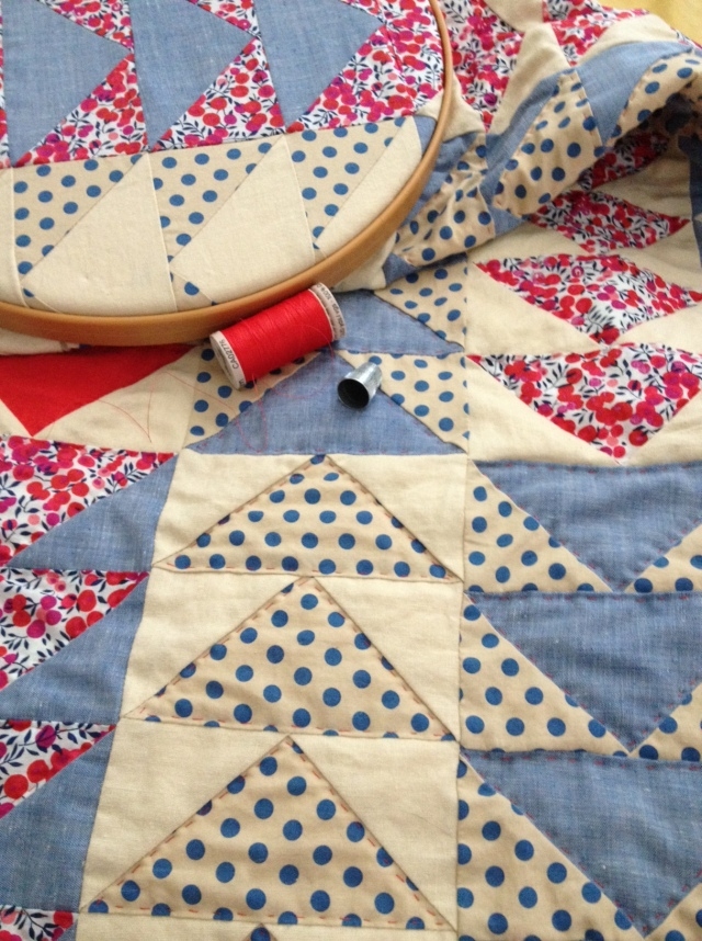 liberty geese hand quilting