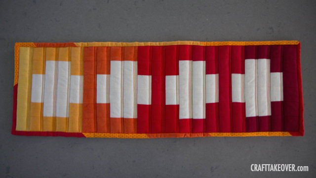 quilted fall table runner - front