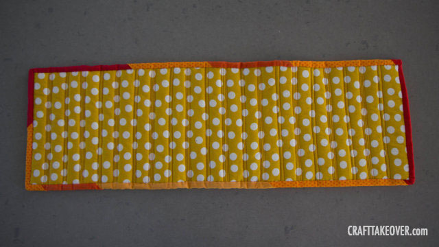 quilted fall table runner - back