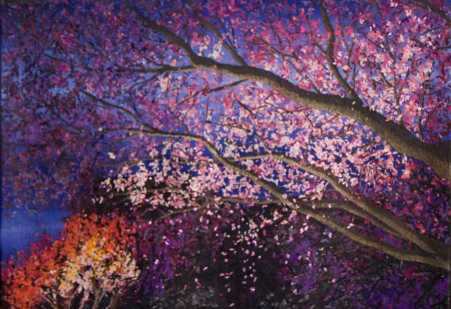 Cherry Blossoms at Night, by Makiko Aoki
