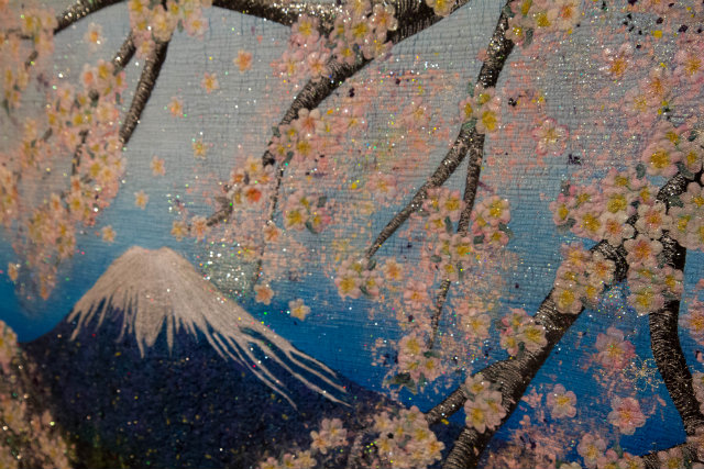 detail of Fuji and Sakura