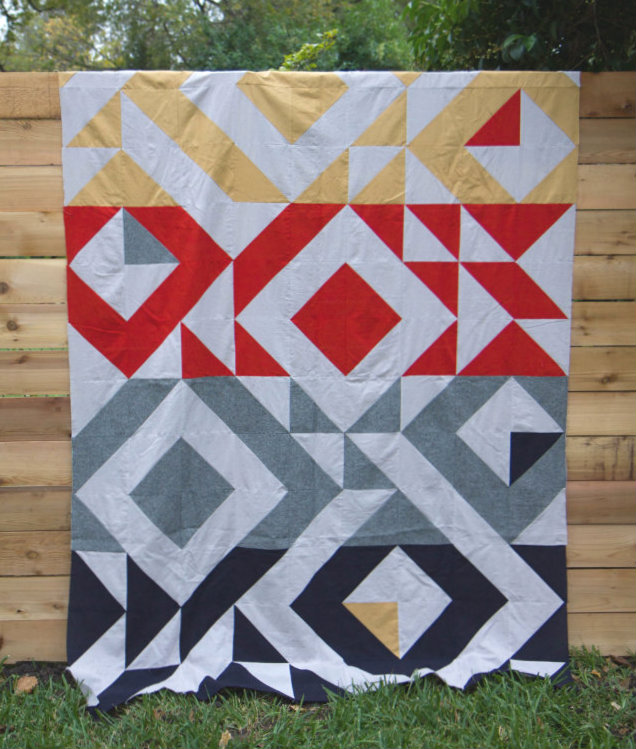 Half square triangle quilt for John