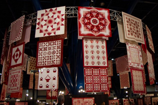Ruby Jubilee quilt display