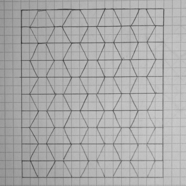 Stretched Hexagon Quilt Sketch