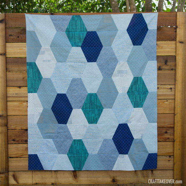 Doe Stretched Hex Quilt Top