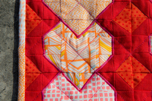 Mini Heart Quilt Detail