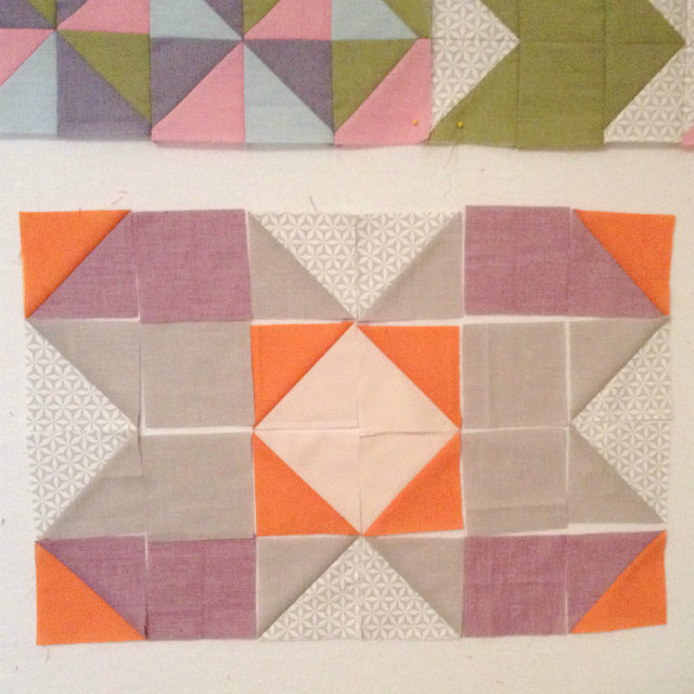 Shot Cotton quilt block