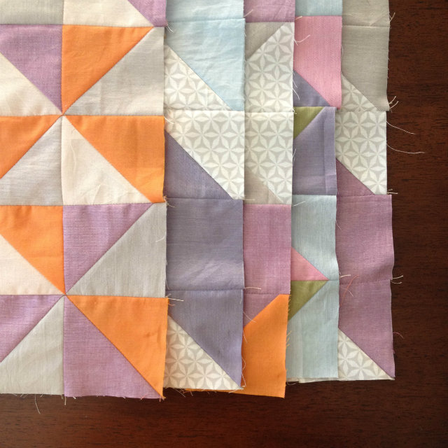 Shot Cotton Quilt Blocks