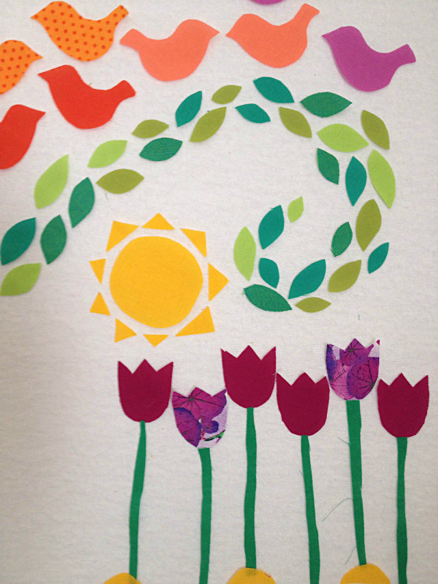 Spring Art Quilt Design Wall