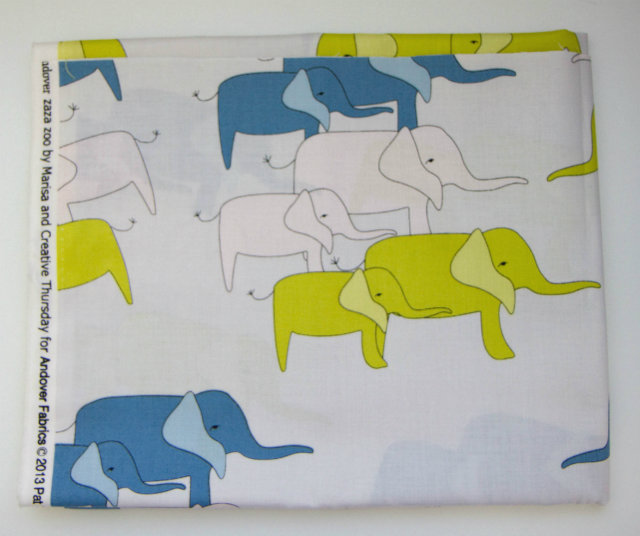 Zaza Zoo Blue, by Andover Fabrics