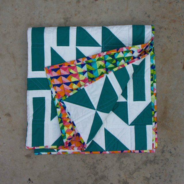 Craft Takeover Geometric Green Baby Quilt